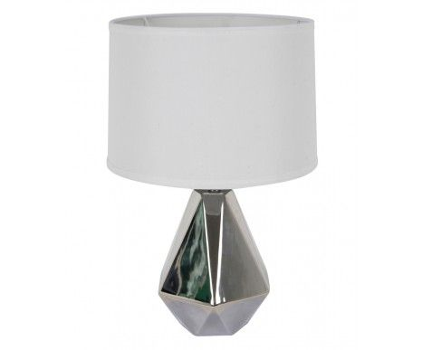 Audrey 1 light table lamp in silver white
