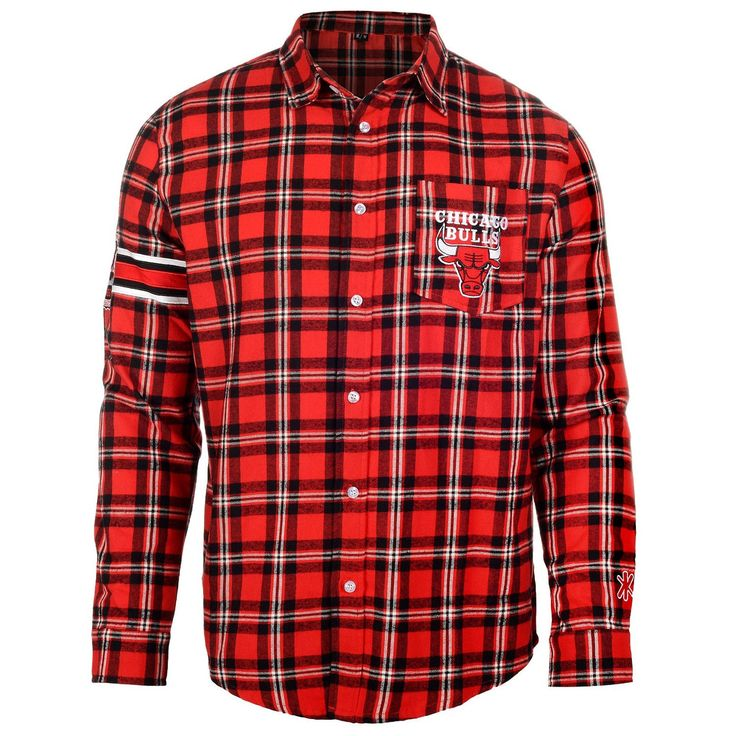 Chicago Bulls Wordmark Basic Flannel Long Sleeve Shirt Sizes S-XXL w/ Priority Shipping - https://crowdz.io/product/chicago-bulls-wordmark-basic-flannel-long-sleeve-shirt-sizes-s-xxl-w-priority-shipping/?pid=OKO1XDPXQ9QPROQ&utm_campaign=coschedule&utm_source=pinterest&utm_medium=Crowdz