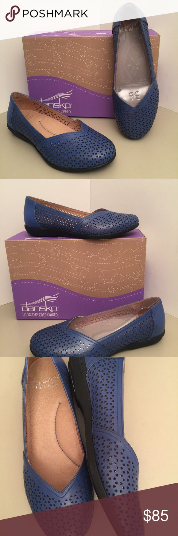 Dansko Blue Flats New in box leather perforated flats Dansko Shoes Flats & Loafers