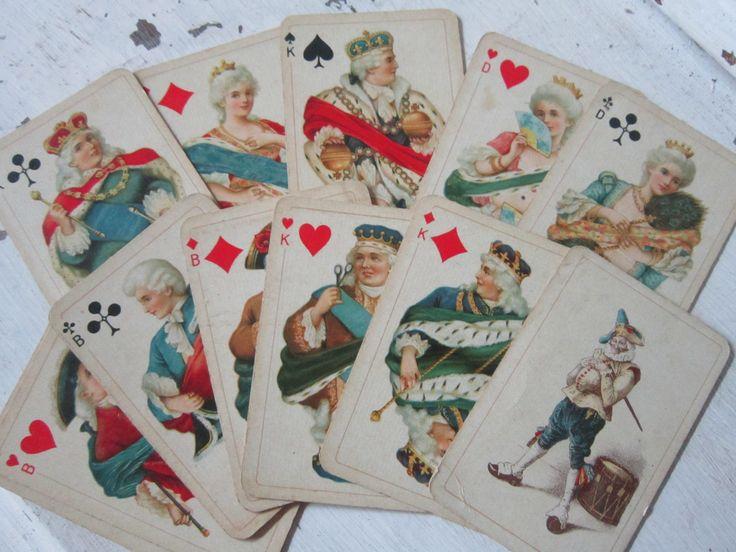 Ancien jeu de cartes à jouer...