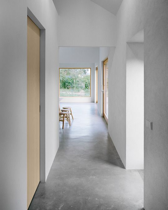 Internal door with concrete floor looks awesome