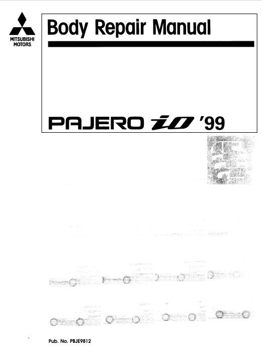 New post (Mitsubishi Pajero iO 1999 Body Repair Manual