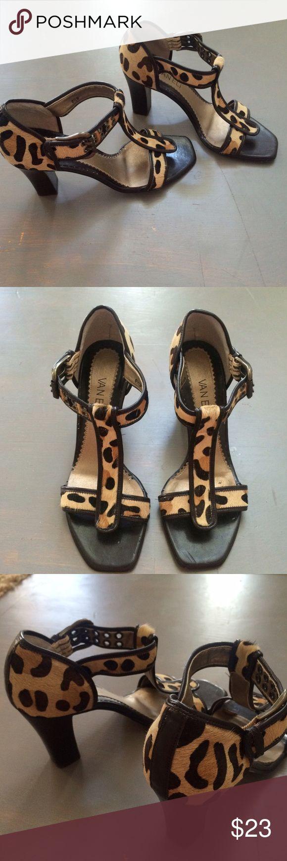"Vaneli Animal Print Heels Sandals 6.5 -gently worn gorgeous heels  -some obvious wear on inside see pic 4 -some wear on bottom  -3 & 1/2"" heel Vaneli Shoes Heels"