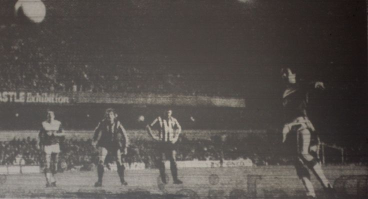 1 January 1986 Graeme Sharp scores from the penalty spot during a 2-2 draw at Newcastle