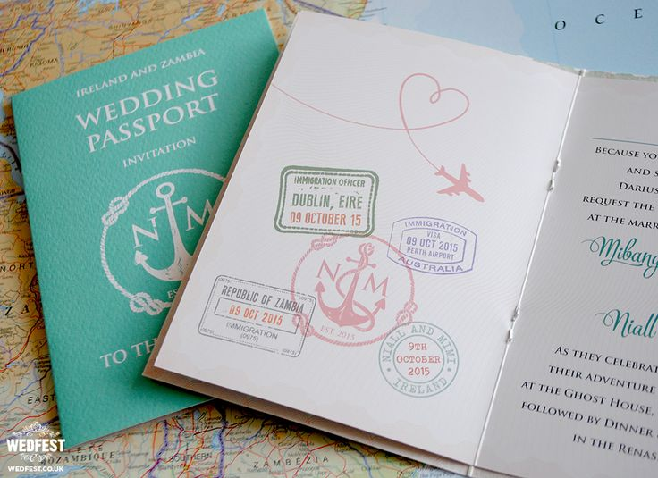 passport themed wedding invite http://www.wedfest.co/passport-wedding-invitations/