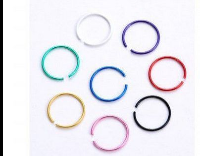 Fake nose septum ,lip or eyebrow stainless steel rings