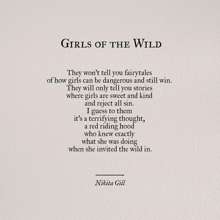 Girls of the Wild by Nikita Gill                                                                                                                                                                                 More