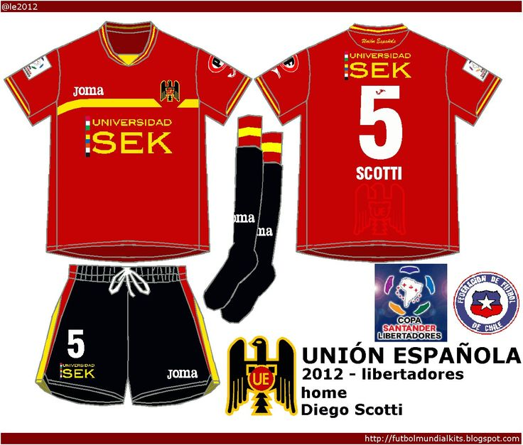 Union Espanola of Chile home kit for 2012.