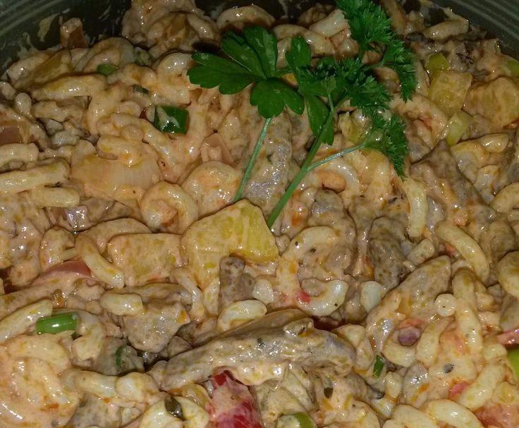 Rezept Gyros Salat a la Drea von Drea1808 - Rezept der Kategorie Vorspeisen/Salate