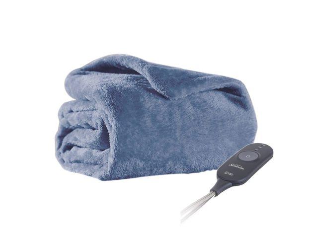 Sunbeam Microplush Electric Heated Warming Oversized Throw Blanket Dusty Blue Dusty Blue In 2020 Oversized Throw Blanket Dusty Blue Dusty