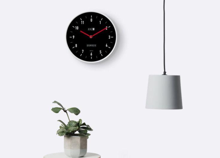 Wall clock which looks like a 80's car speedometer.  #speedometer #wallclock #clock #illustration #retro #80s #interior #sisustus #auto