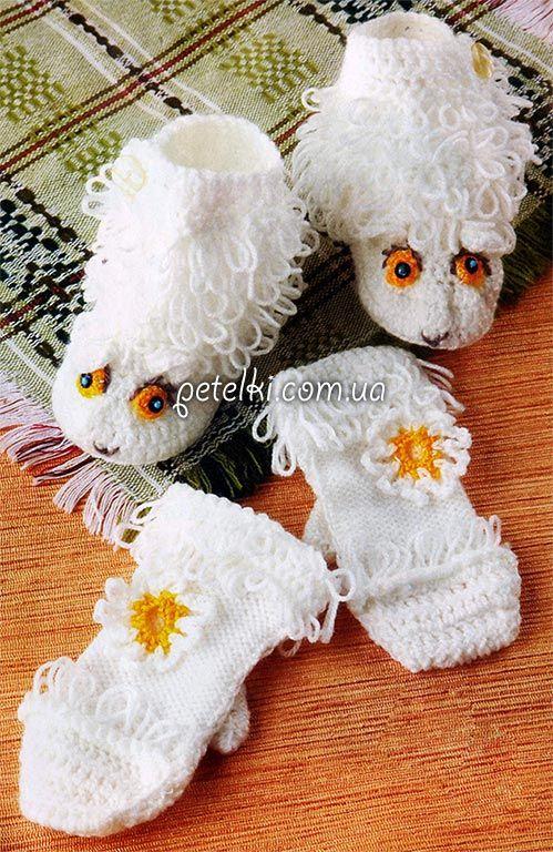 Описание вязания: Белые Овечки