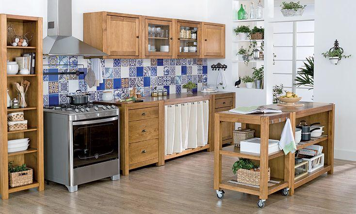 Tok&Stok Cozinha Carrinhos, estantes e módulos avulsos são boas ferramentas para se criar uma cozinha completa.