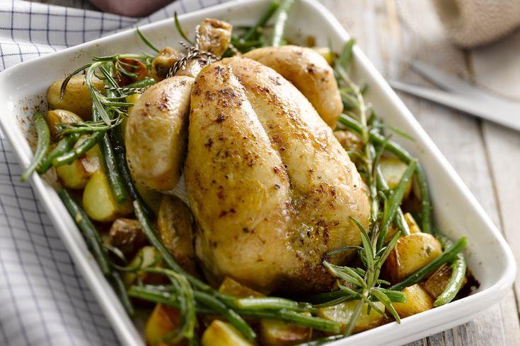 ovenschotel - kippen, aardappelen, ... - Verwarm de oven voor op 180 °C.