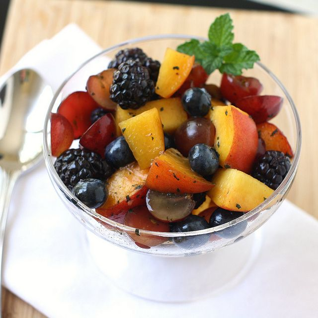 Summer Fruit Salad with Mint Sugar by Tracey's Culinary Adventures, via FlickrFood Recipes, Summer Fruits, Fruit Salad Recipe, Tracey Culinary, Fruit Salads, Summer Recipe, Mint Sugar, Culinary Adventure, Summer Fruit Salad