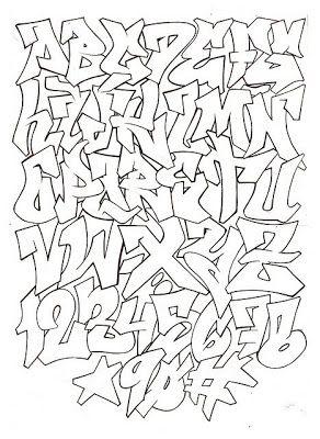 ABECEDARIO GRAFFITI,Graffiti Alphabet