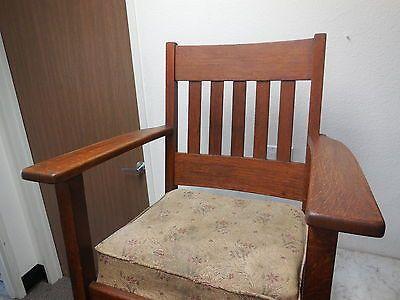 Antique Mission Binghamton Morris Chair Oak Rocker Arts