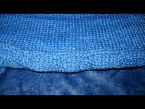 Make a Machine Knitted Self Closing Border - DIY Crafts - Guidecentral - YouTube