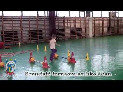 Bemutató tornaóra az iskolában - Polgárdi - YouTube