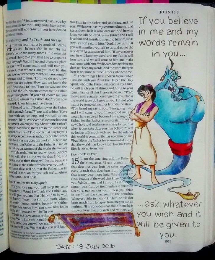 Bev Knaup Bible Journal John 15:7