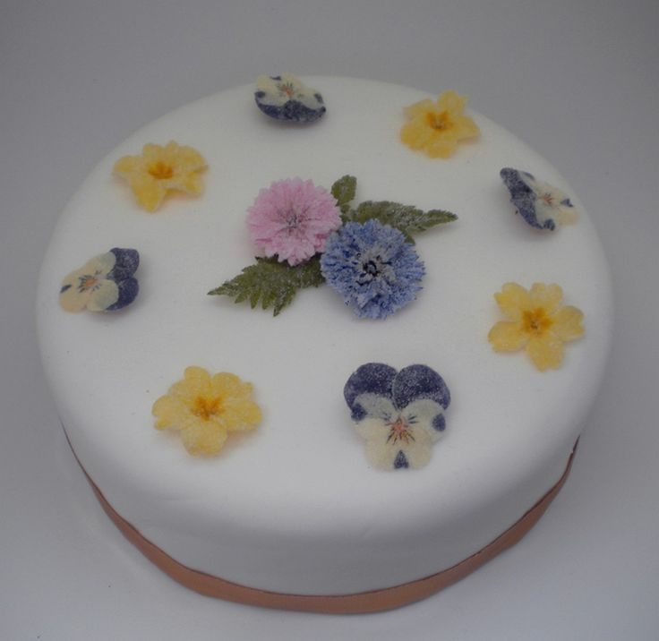 Crystallised Flowers Cake Decorations