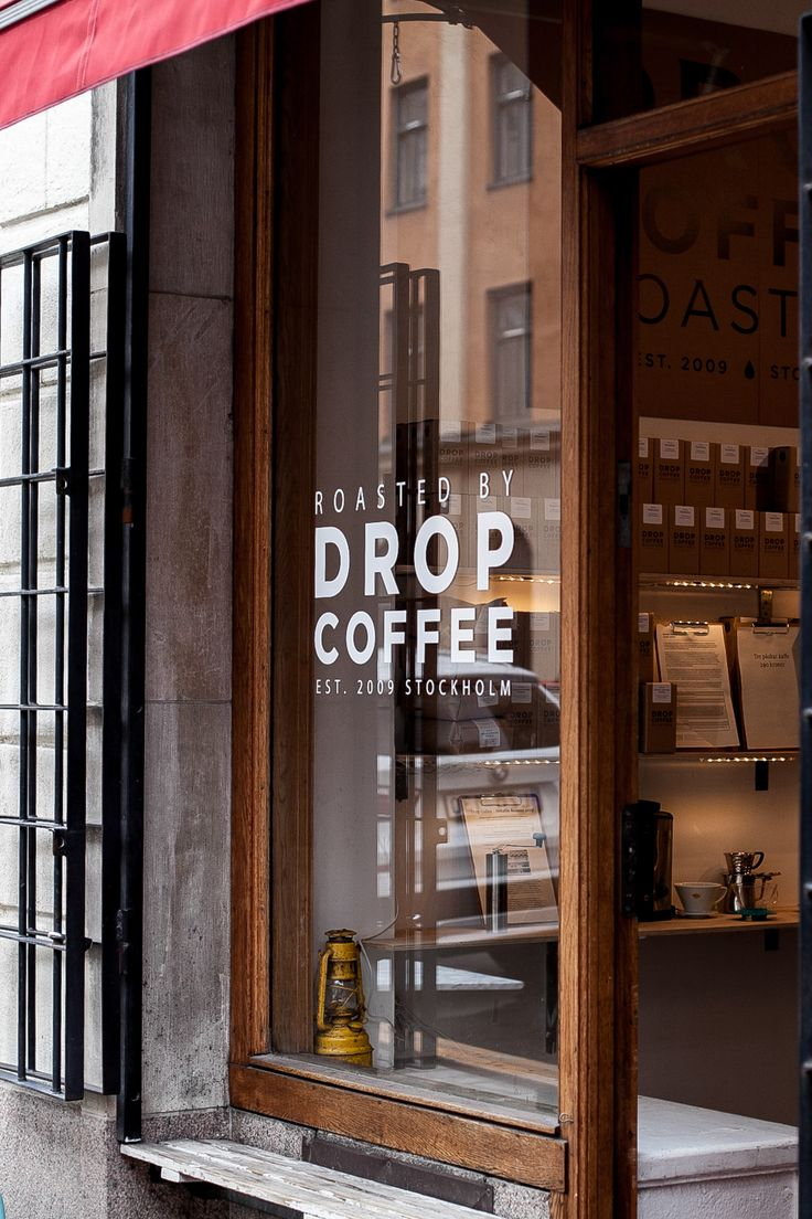 Car sticker design shop - Stockholm Drop Coffee Kinfolk