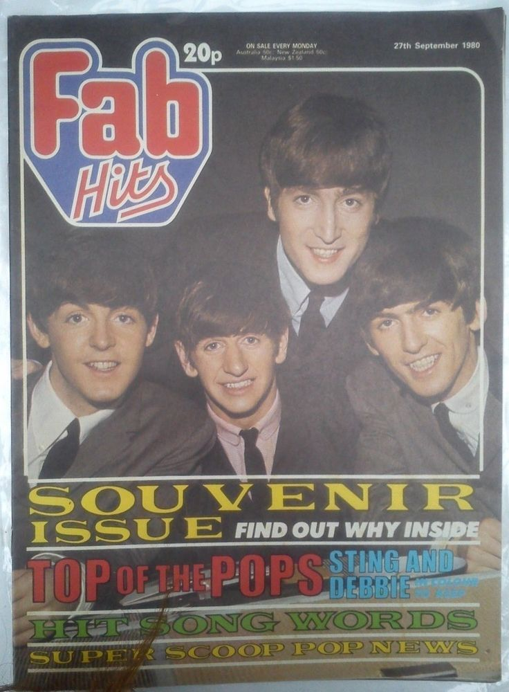 FAB Hits 27th September 1980 The Beatles Souvenir Issue. Also Sting and Blondie.