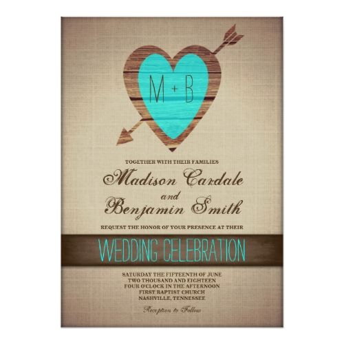 Country Wedding Invitations Rustic Teal Heart Arrow Country Wedding InvitesBest 25  Teal wedding invitations ideas on Pinterest   Laser cut  . Nashville Wedding Invitations. Home Design Ideas