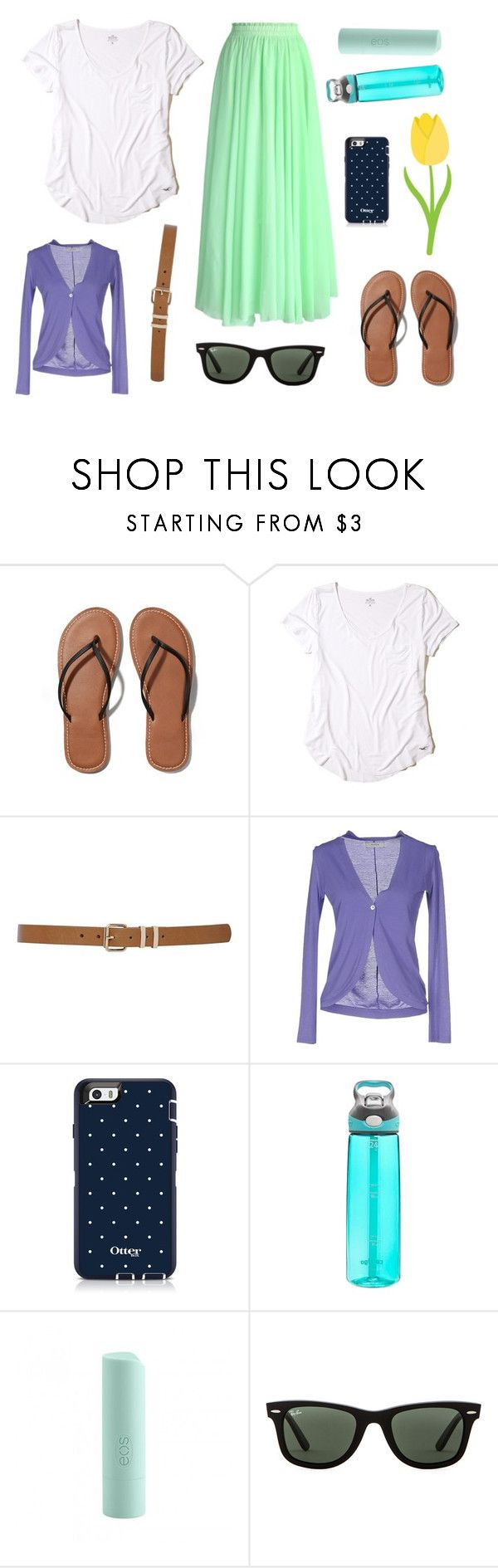 """""""Date Night"""" by im-a-jeans-and-boots-kinda-girl ❤ liked on Polyvore featuring Abercrombie & Fitch, Hollister Co., M&Co, Alpha Studio, Contigo, Eos, Ray-Ban and Chicwish"""