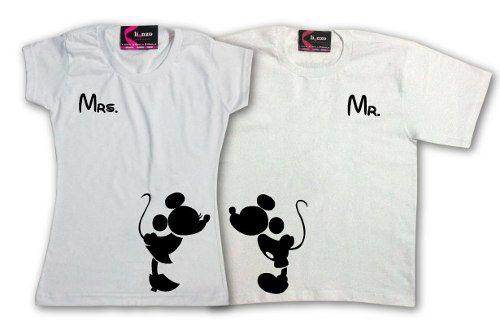 franelas de minnie mickey para parejas