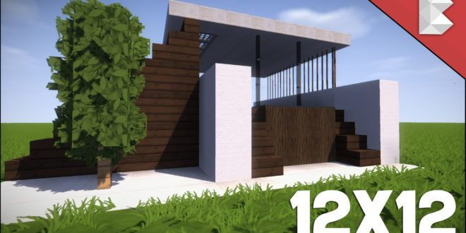 Minecraft: 12X12 Modern House Tutorial   How to Build Best Small Modern House