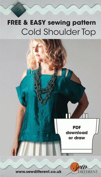 free sewing pattern cold shoulder top