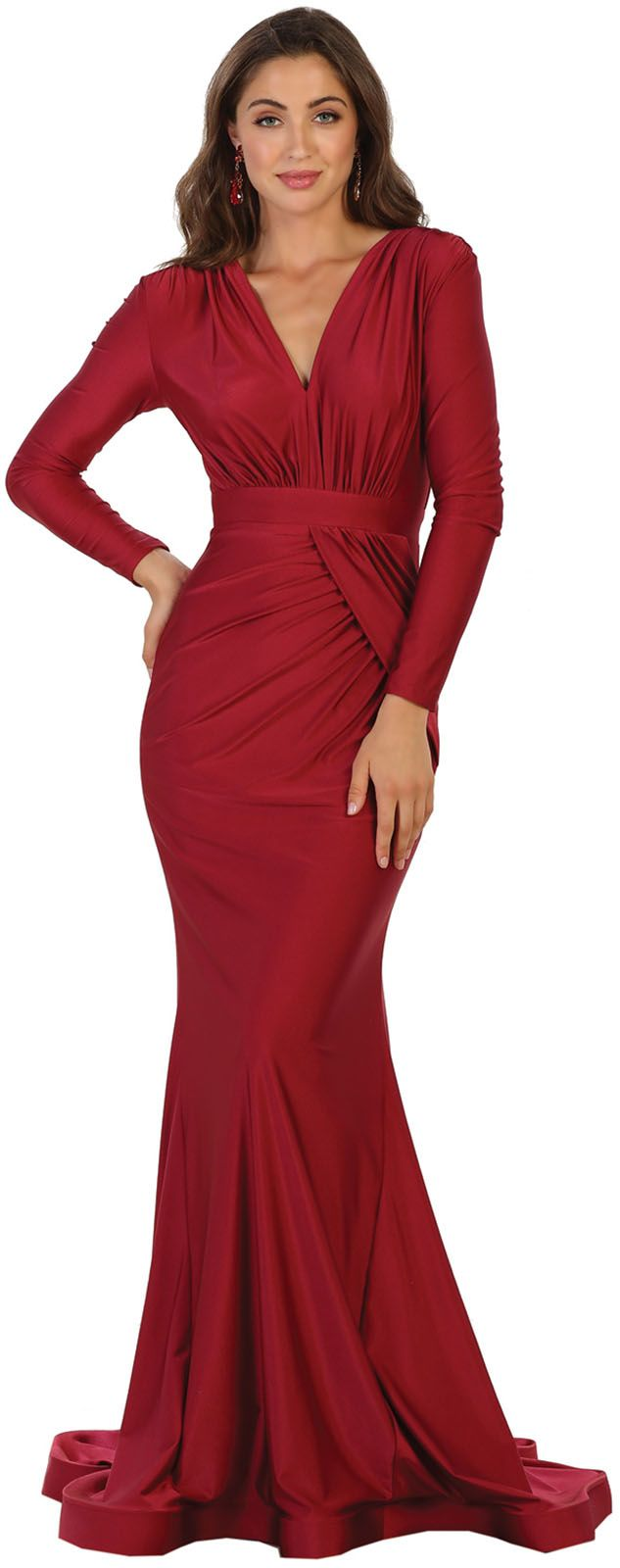 May Queen Simple Long Sleeve Stretchy Mermaid Evening Gown Walmart Com Long Sleeve Evening Gowns Evening Gowns Mermaid Evening Gown [ 1600 x 633 Pixel ]