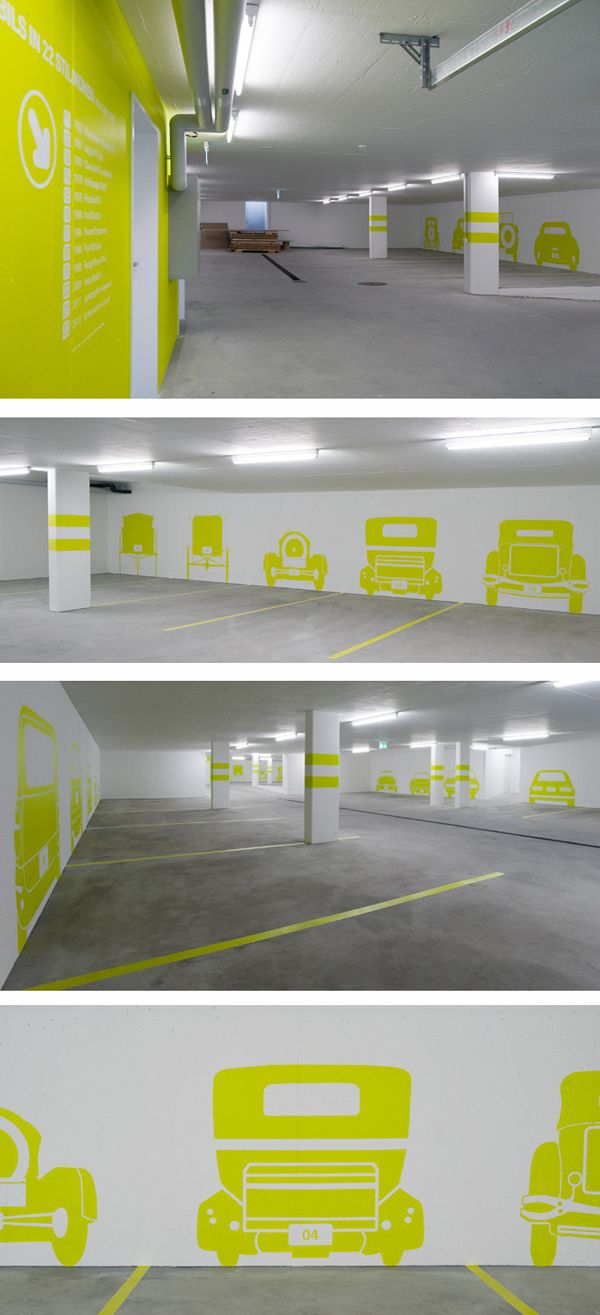 Das museale Parkhaus - The museum parking garage by Rawcut Design Studio, via Behance