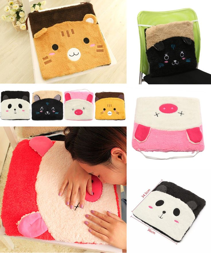 [Visit to Buy] Cute Cartoon Animal Seat Cushion 36 x 34.5cm Korean Style Sofa Mat Home Office Chair Pad Student Friend Gift Afternoon Nap #Advertisement