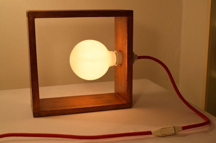 Lámpara De Mesa Escritorio Realizada En Forma Artesanal