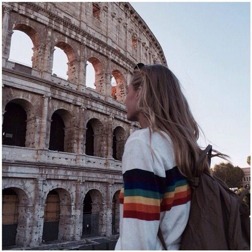 Rainbow striped sweater-