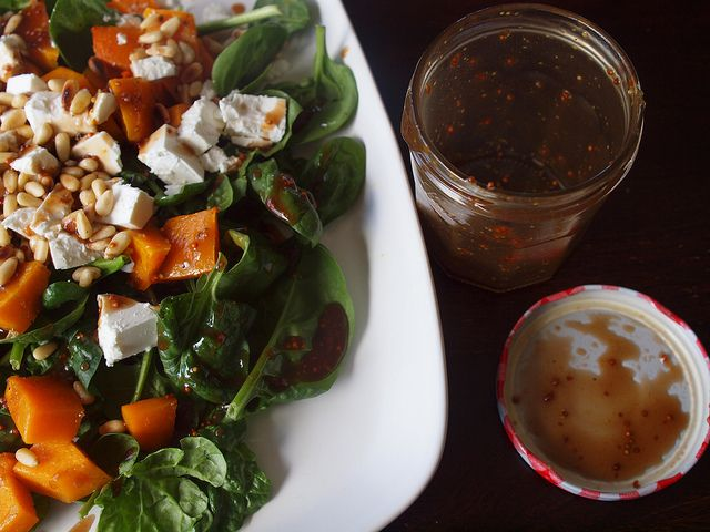 Spinach, Fetta and Pumpkin Salad