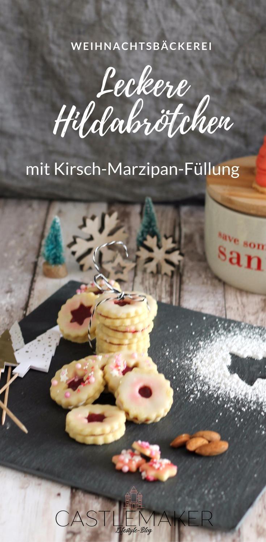 In der Weihnachtsbäckerei gibt es unzählige Plätzchenrezepte und heute habe ich zarte Mandelplätzchen als Hildabrötchen und Burgenländer für Euch.