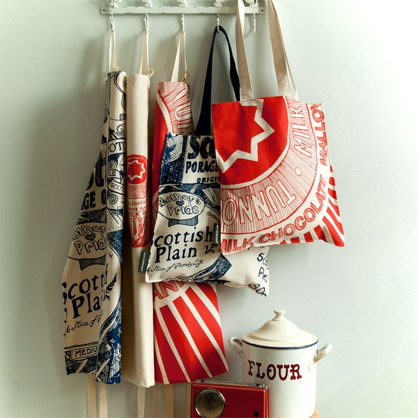 I'm in love with Gillian Kyle shoppers — Tunnocks Teacake Wrapper Canvas Tote Bag