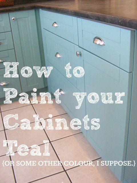 The complete guide to imperfect homemaking how to paint for How to make teal paint