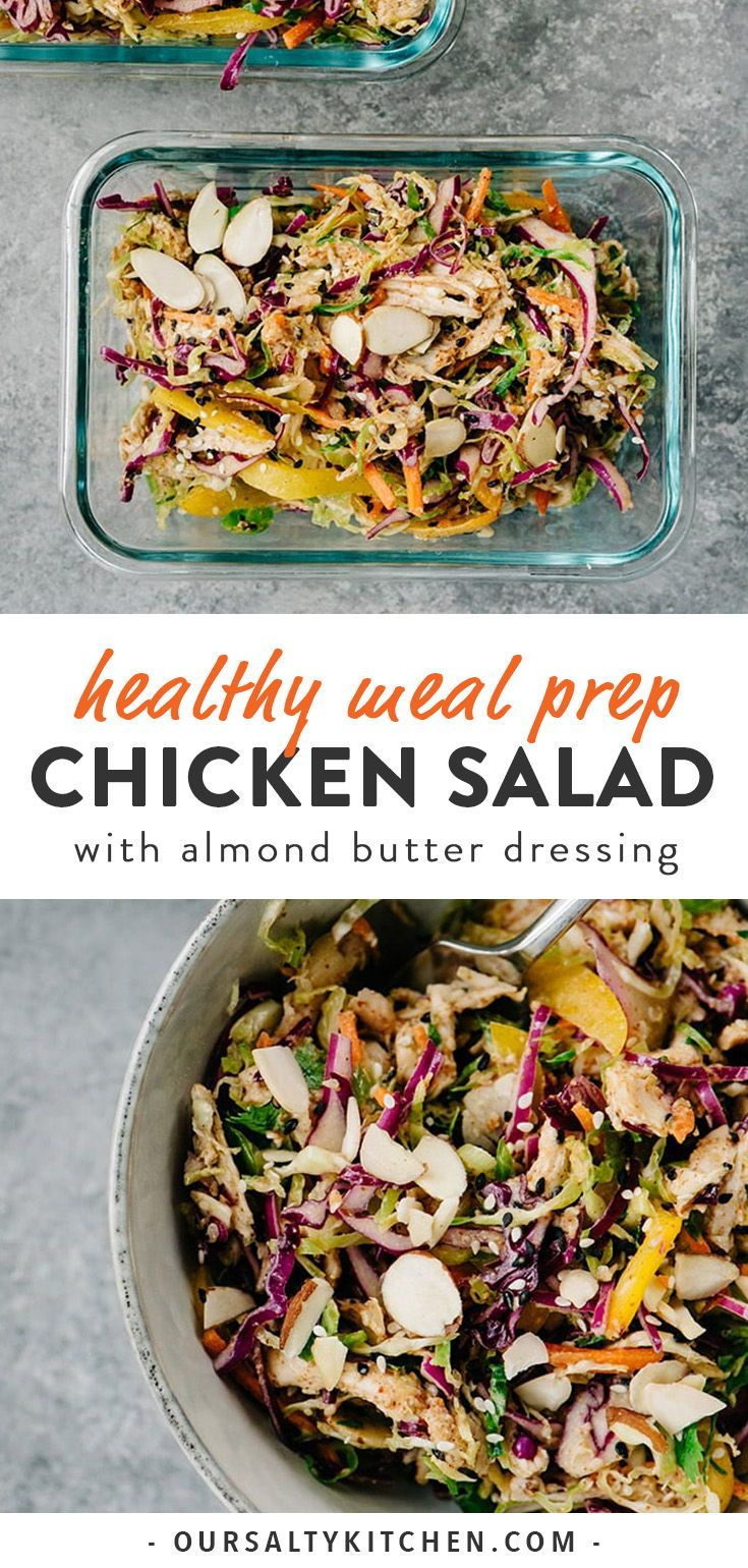 Healthy Chicken Salad with Almond Butter Dressing