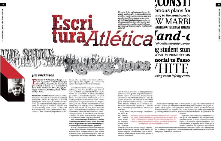 Trabajo final - Tipografía II - Cátedra Gaitto - Revista de la Cátedra - 10-11