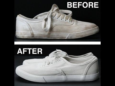 How To Get White Shoes White Again - YouTube