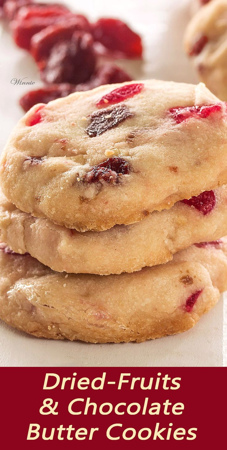 Butter Cookies with dry Cherry, Raspberry and Chocolate ...