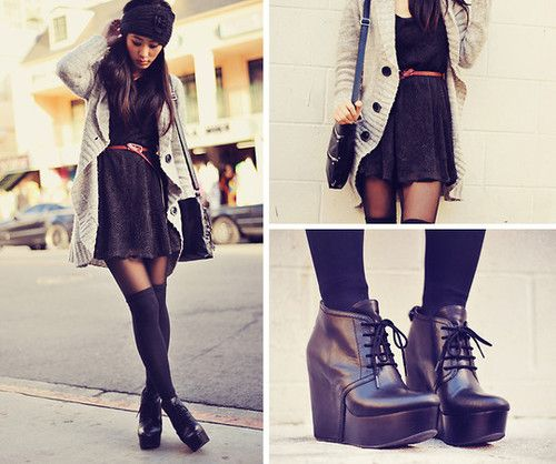 another outfit to wear over the knee socks with. score.