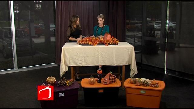 Transitional Holiday Storage  Now that Halloween has wrapped, you can't skip a beat when it comes to getting your Thanksgiving decor out.   But how can you keep the stress down when making this decorating transition?   Professional organizer Ashley Easley can help us with that!