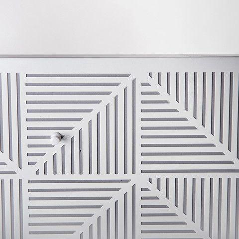 white metal pinboard