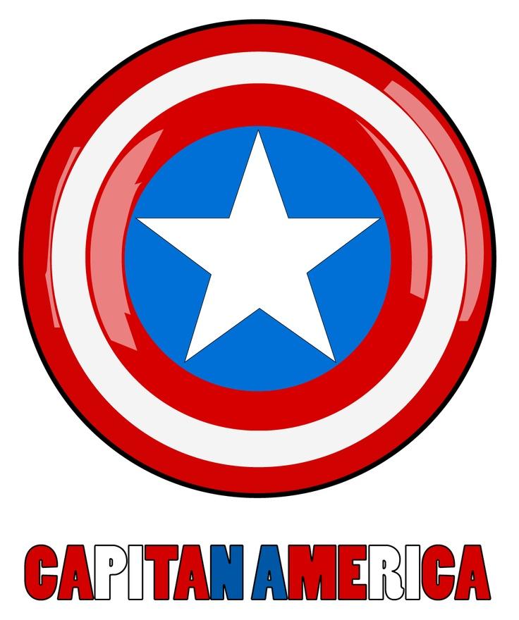 Diseño Grafico Illustrator Escudo capitan america vectorial