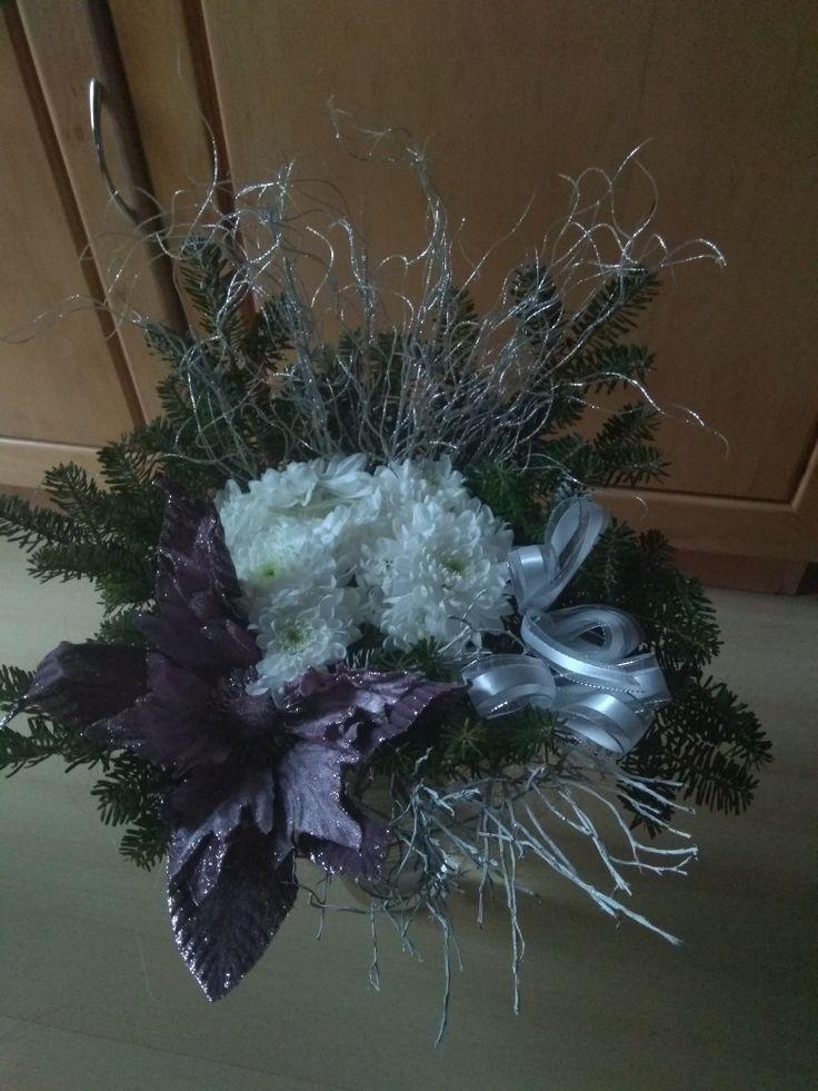 Vánoční dekorace květiny